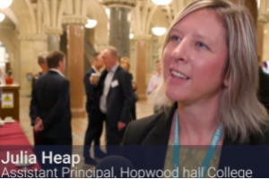 Julia Heap, Principal Hopwood Hall College